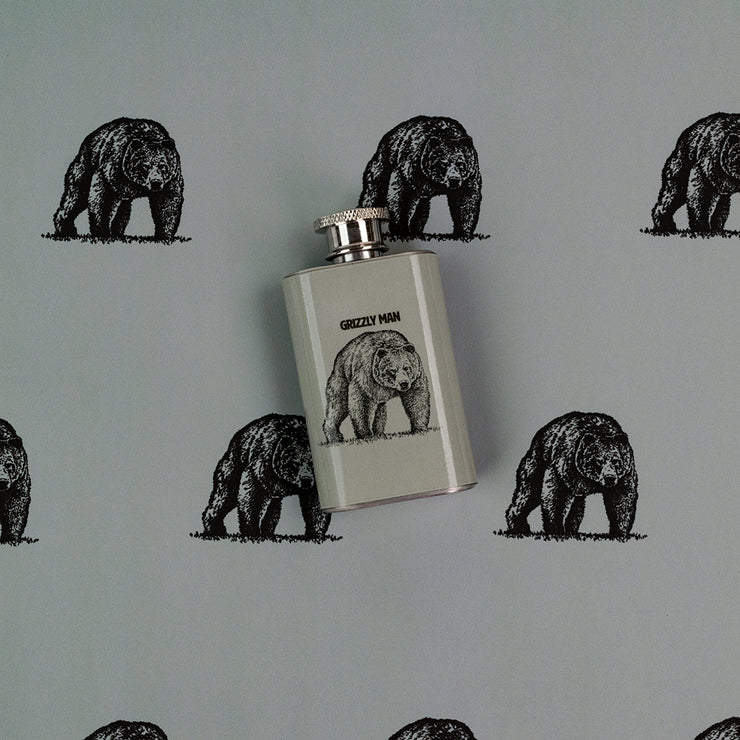 Grizzly Man Shot Flask - FBHIP04