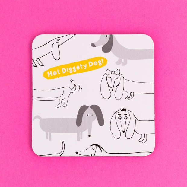 Hot Diggety Dog Coaster - GSG18