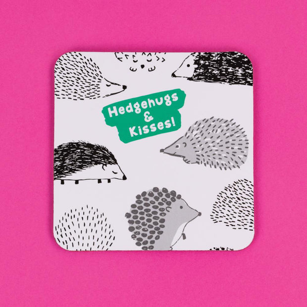 Hedgehugs & Kisses Coaster