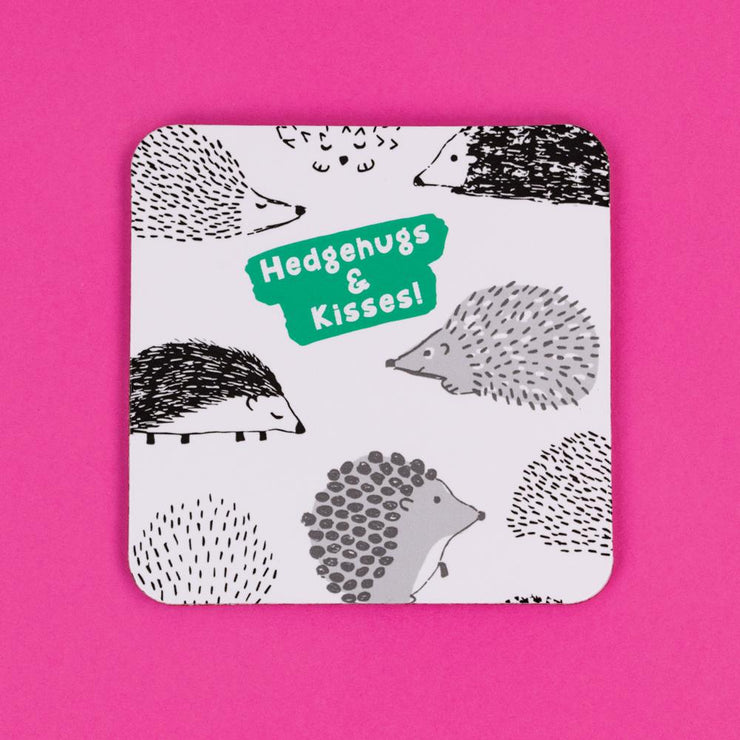 Really Good Hedgehugs & Kisses Coaster