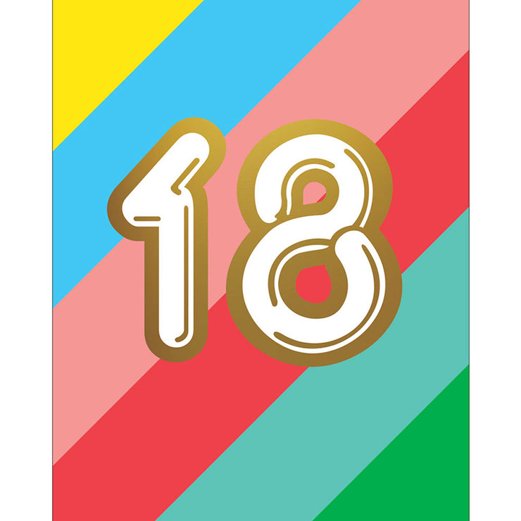18th Birthday Card - HOW01