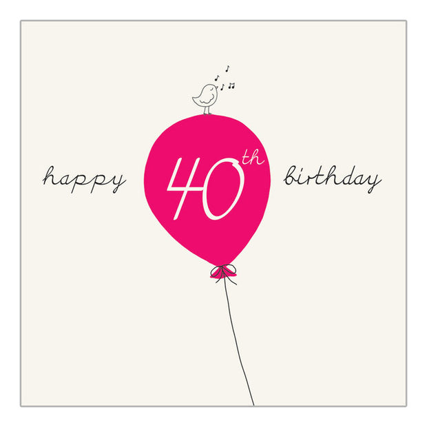 Fortieth Birthday - Balloon - IM56