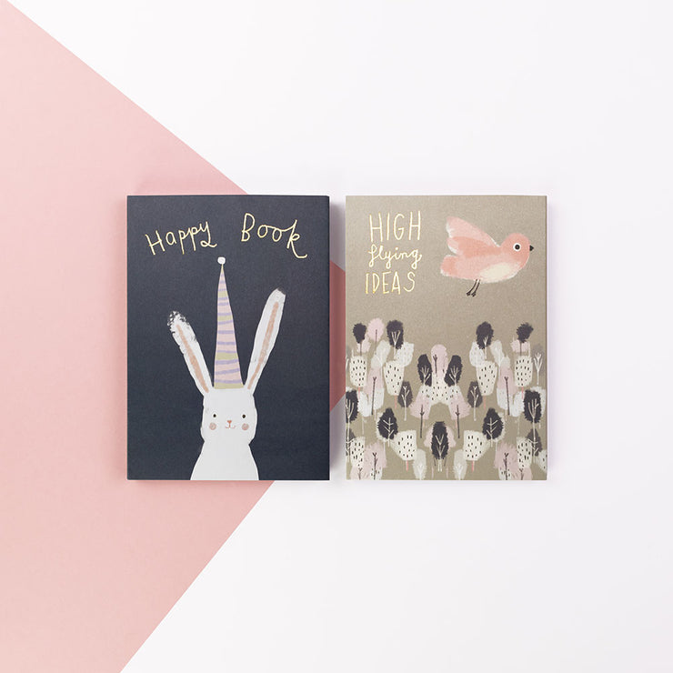"Ivy & Bee Two Pack ""Happy"" Notebooks IVYNBP02"