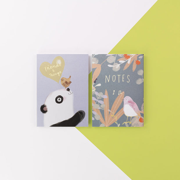 Ivy & Bee Two Pack Friends Notebooks - IVYNBP03