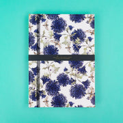 A4 Notebook with Moths and Cornflowers