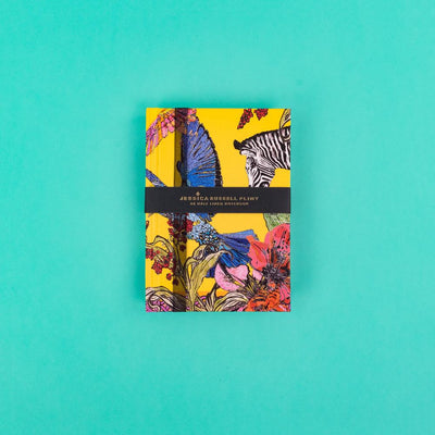 A6 Luxury Notebook with Zebra and Exotic Birds - JRNBS01