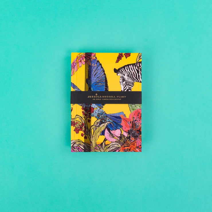 A6 Luxury Notebook with Zebra and Exotic Birds