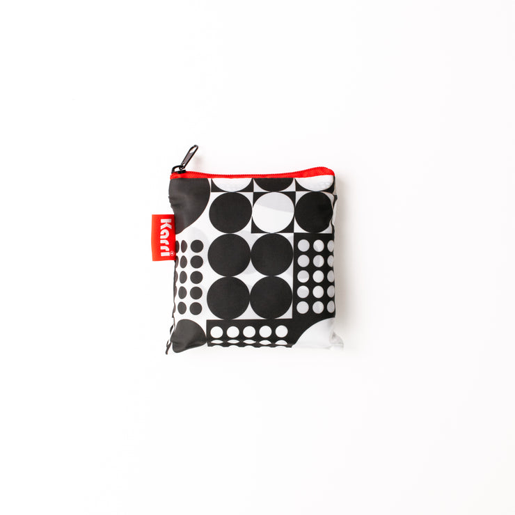 Karri Reusable Shopping Bag - Black Circles. - KA01