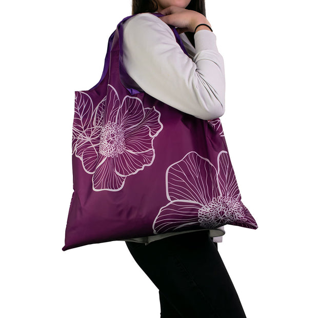 Karri Reusable Shopping Bag - Purple Floral - KA03