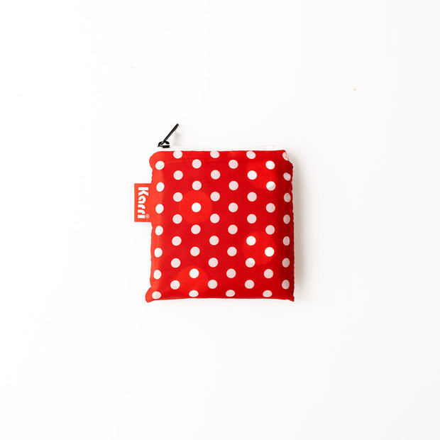 Karri Reusable Shopping Bag - Red Polka Dot - KA05