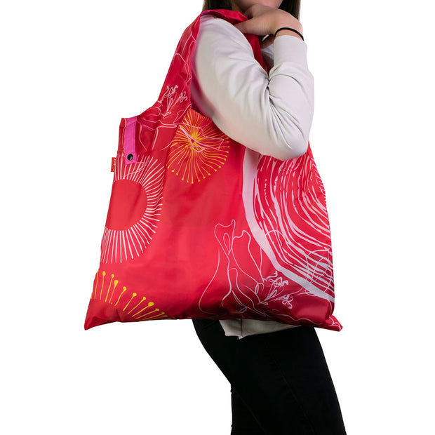 Karri Reusable Shopping Bag - Pink Swirls