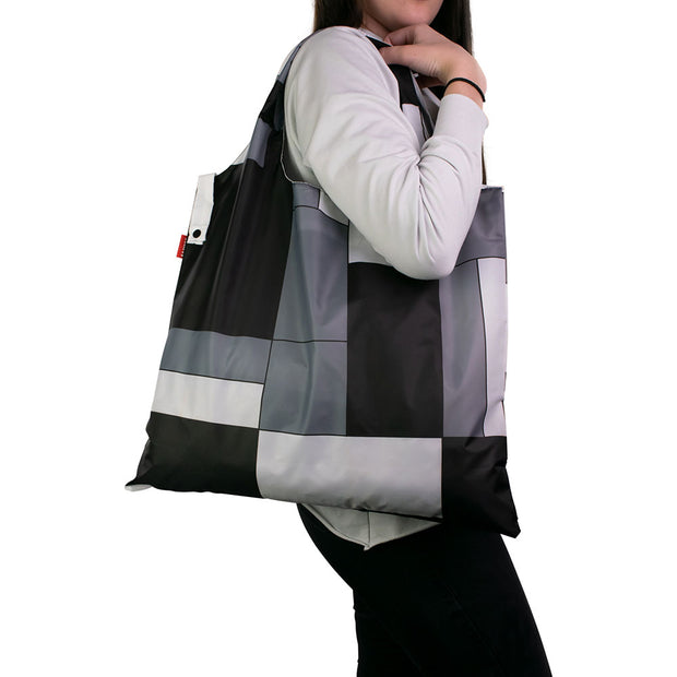 Karri Reusable Shopping Bag - Black Squares - KA16