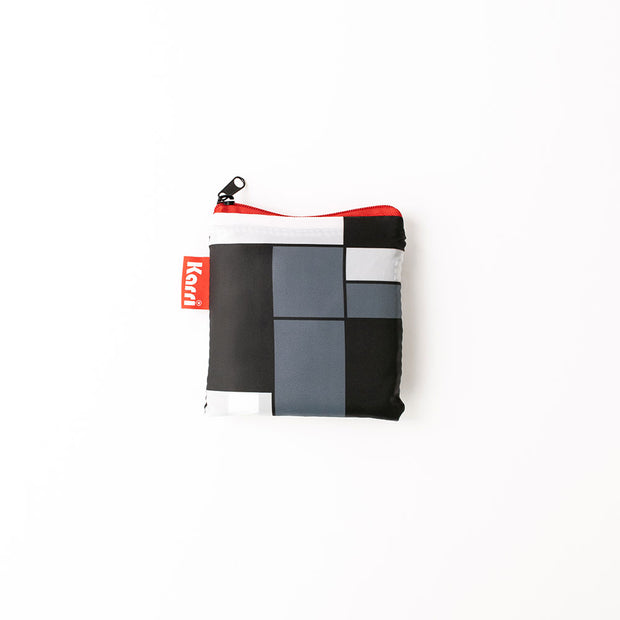 Karri Reusable Shopping Bag - Black Squares