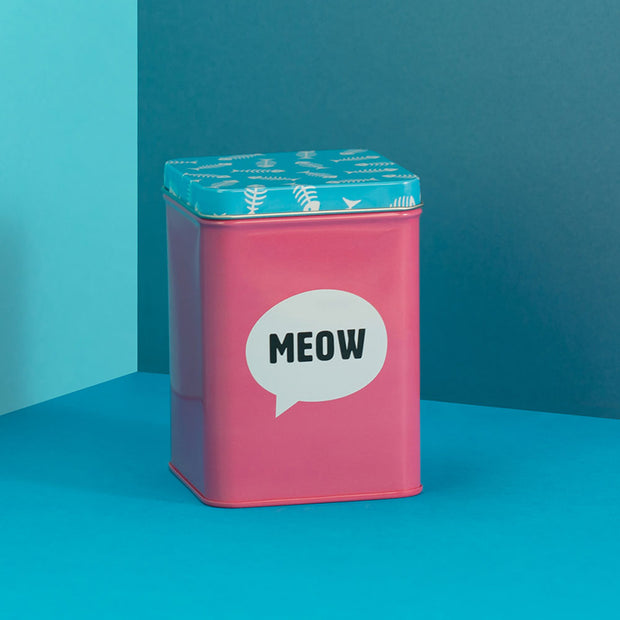 Cat Treat Storage Tin