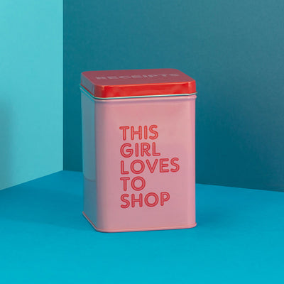 This Girl Loves to Shop Receipts Tin - RGT07