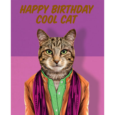 Really Good Happy Birthday Cool Cat Card