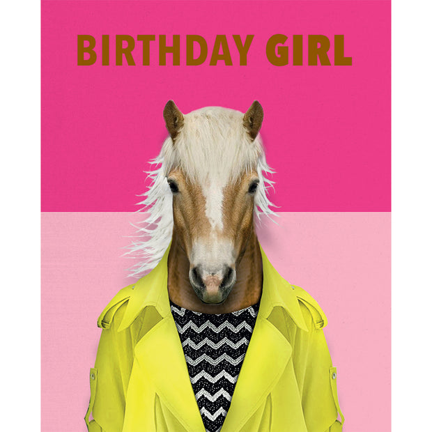 Really Good Birthday Girl Horse Card