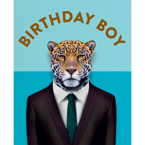 Really Good Birthday Boy Leapord Card