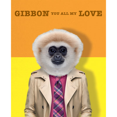 Really Good Gibbon You All My Love Card