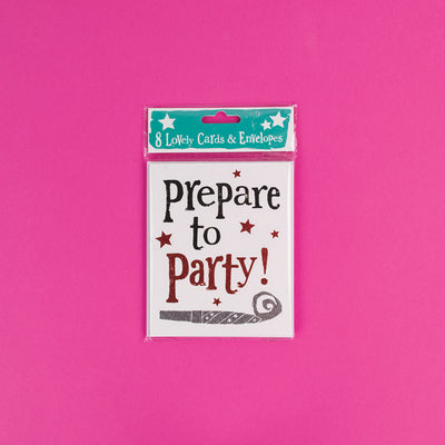 Prepare to Party Invites - BSSS12