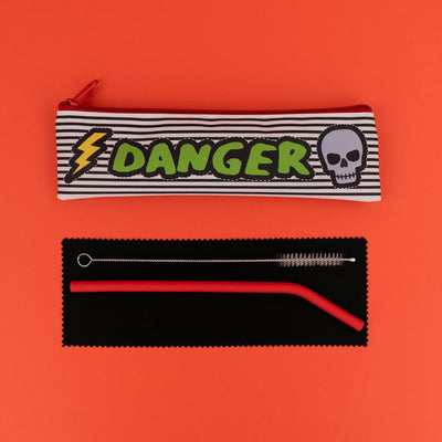Really Good Danger Reusable Straw Set