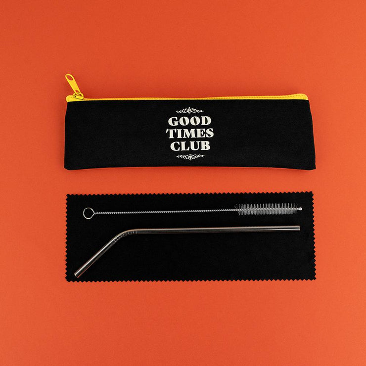 Really Good Good Times Club Reusable Straw