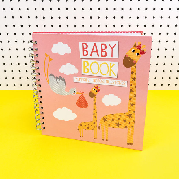 Baby Memories Book in pink for Photos, Milestones - TICKBB02