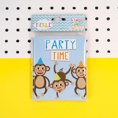 Party Invitations in Blue TICKSS01