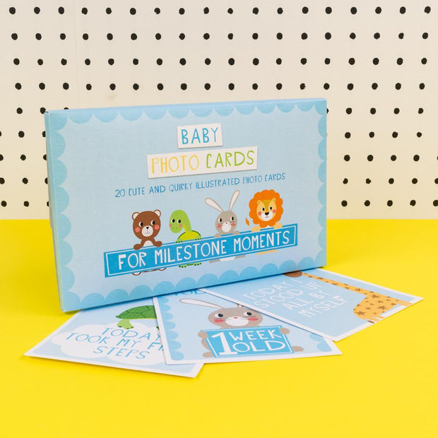 Soul Baby Milestone Cards Blue