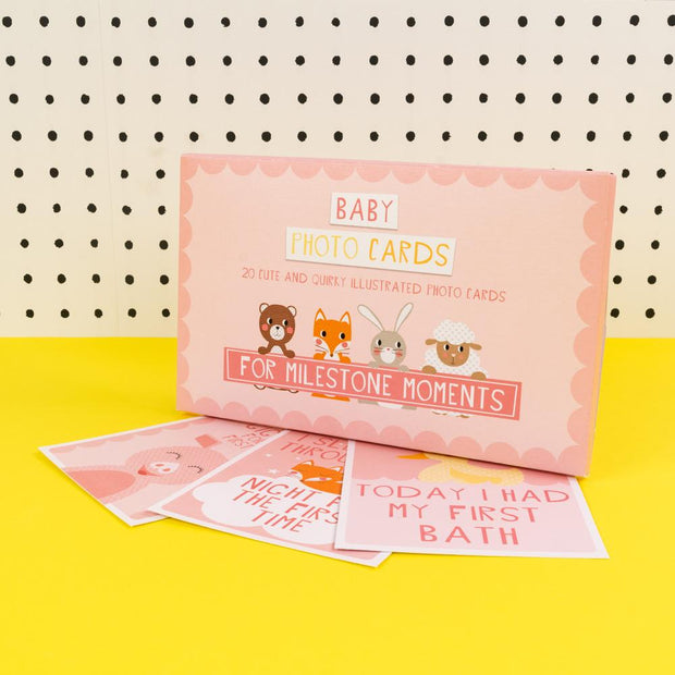 Soul Baby Milestone Cards Pink