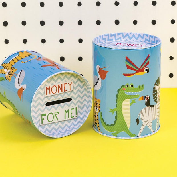 Money for Me Tin in Blue - TICKTIN03