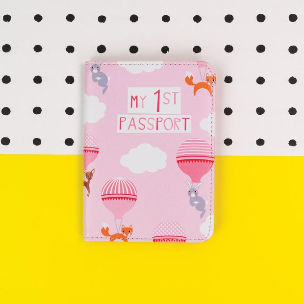 My First Pink Passport Cover - TICKG20