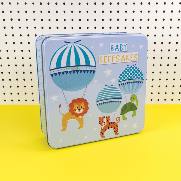Soul Baby Keepsakes Tin Blue