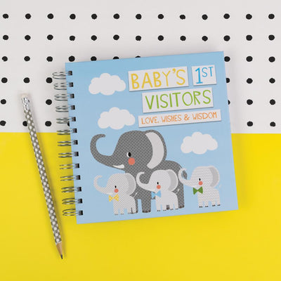 Soul Baby's 1st Visitors Book Blue