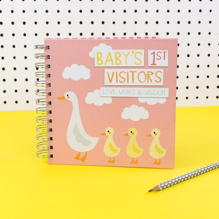 Soul Baby's 1st Visitors Book Pink