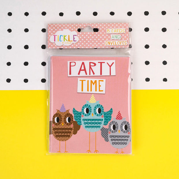 Party Invitations in Pink TICKSS02
