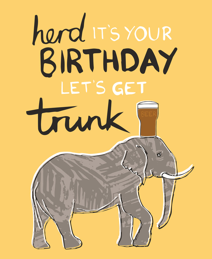 Really Good Herd It's Your Birthday Card