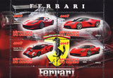 Congo Cars Ferrari P4/5 Sports Souvenir Sheet 4 stamps  Mint NH