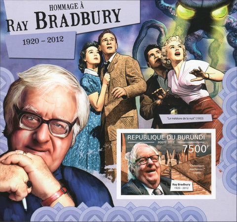 Ray Bradbury Authors Famous People Cinema Souvenir Sheet MNH
