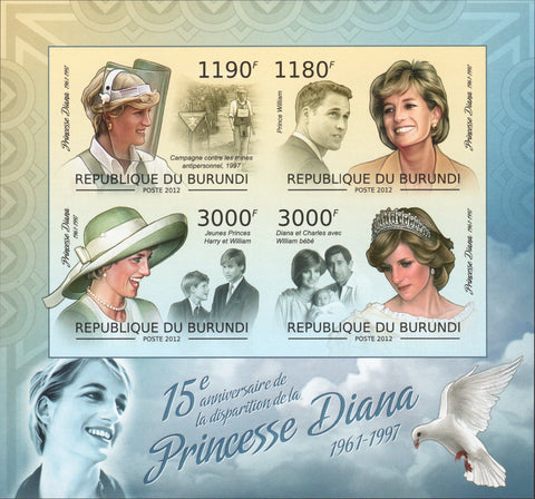Princess Diana Royal Family Prince William Henri Doves Imp. Souvenir She