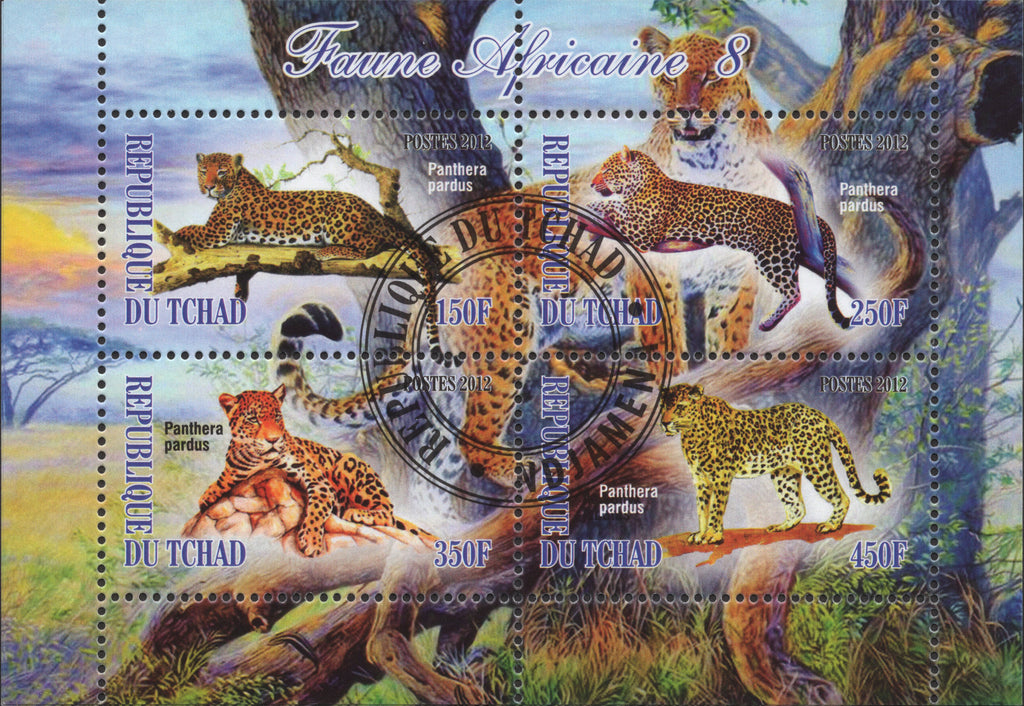 Tigers Wild Animals Souvenir Sheets of 4 Stamps