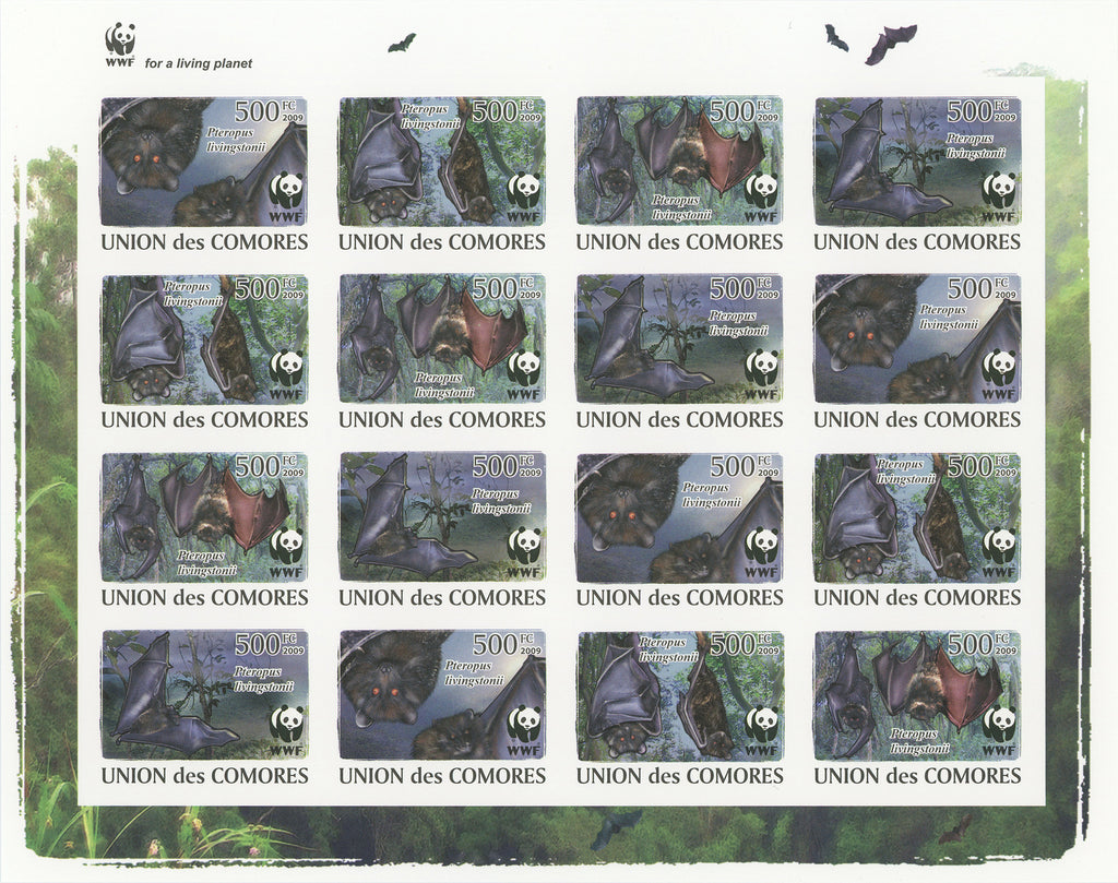 Bats Animals Imperforate Souvenir Sheet Mint NH