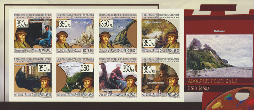 Adolphe-Félix Cals Art Paintings Imperforated Souvenir Sheet MNH.