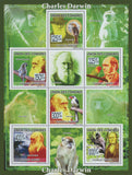 Charles Darwin, Animals, Nature, famous people, celebrities, Souvenir Sheet MNH