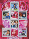 Famous people from China, Souvenir of 6 stamps, Mint NH