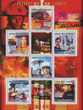 Famous firefighters, Souvenir Sheet of 6 stamps, Mint NH