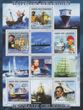 Famous boats, Souvenir Sheets of 6 stamps, Mint NH