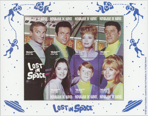 TV Artist Lost in Space Souvenir Souvenir Sheet of 8 stamps MNH Mint