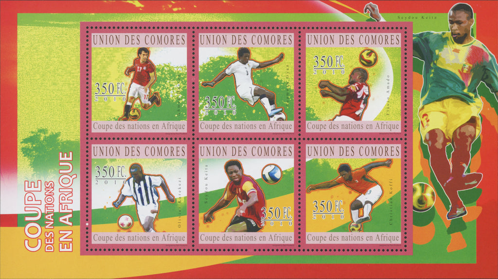 Soccer Sport African Cup Souvenir Sheet of 6 stamps Mint NH