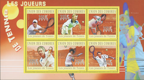 Tennis Sport Souvenir Sheet of 6 stamps Mint NH